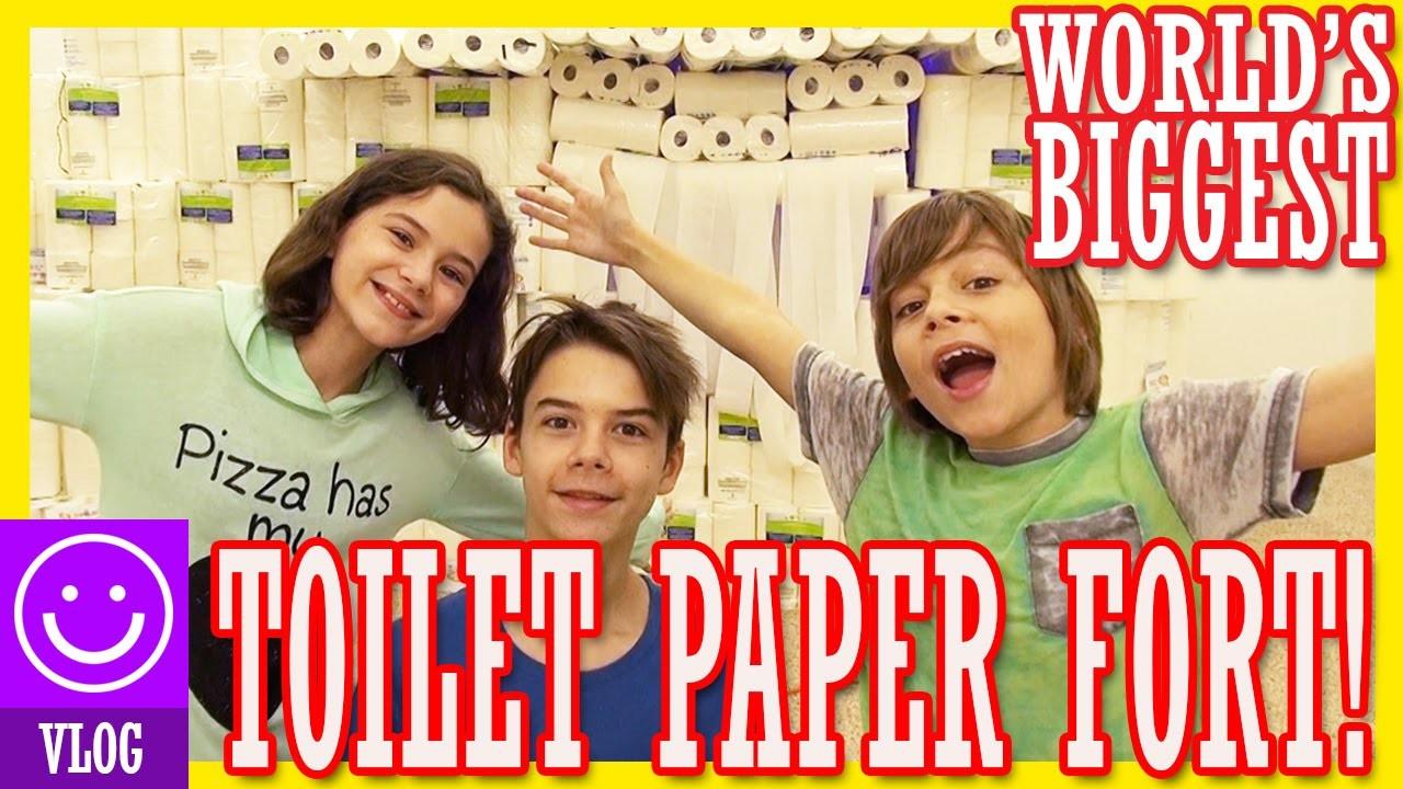 WORLDS BIGGEST TOILET PAPER FORT!!  CHALLENGE!  |  KITTIESMAMA
