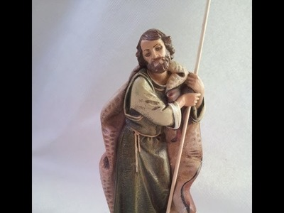 2º COMO PINTAR UN SAN JOSE PARA EL PESEBRE CON FINAL BUENO - HOW TO PAINT A ST. JOSEPH TO THE MANGER