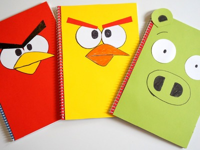 Angry Birds DIY Designer Notebook Covers tutorial | Back To School Now