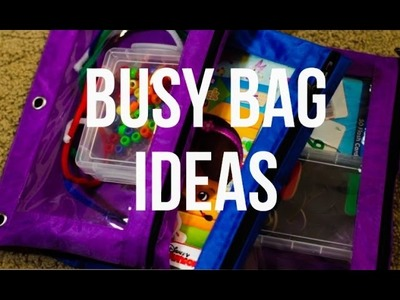 Busy Bag Idea for Toddlers - Cheap and Easy DIY