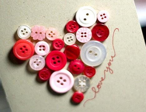 Button Heart Valentine's Day Card - Make a Card Monday #53