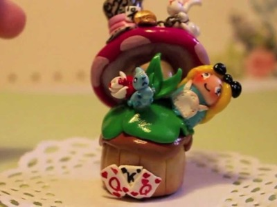 Clay Wars Entry - Alice in Wonderland Cupcake
