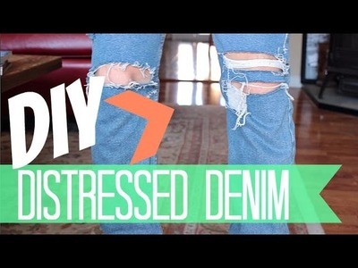 Distress Denim Jeans | DIY Distressed Denim