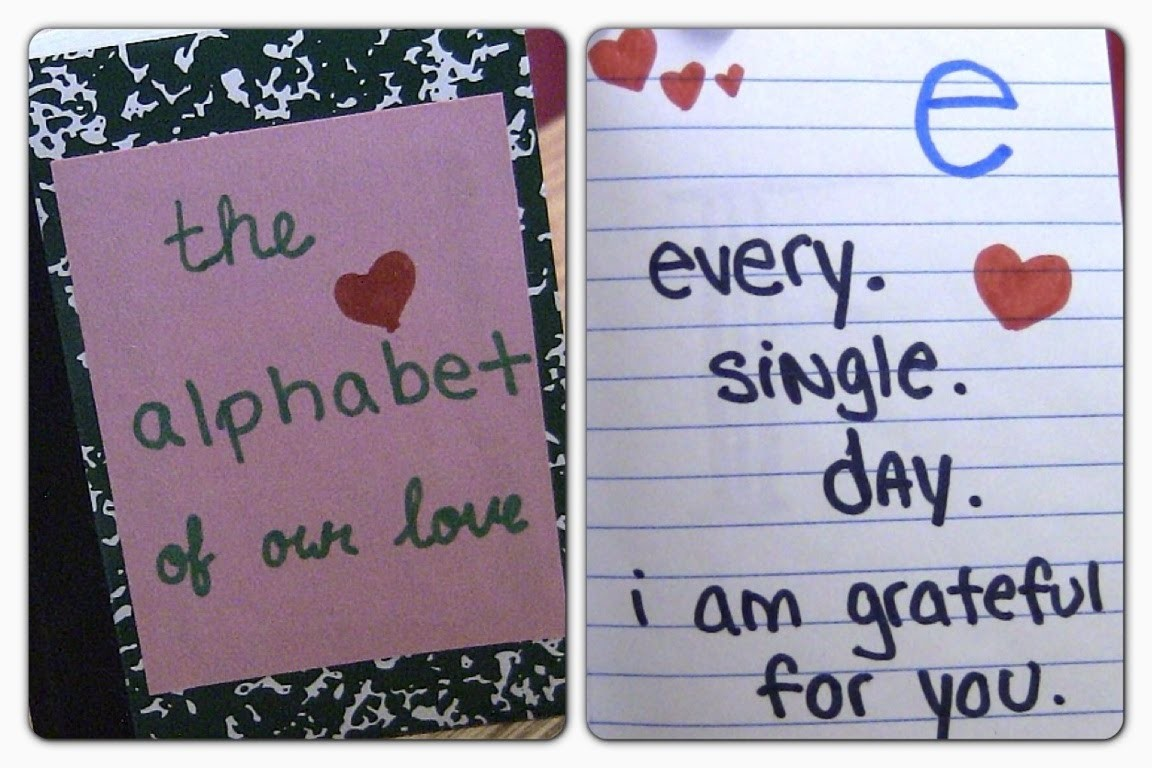 DIY: Alphabet of Love (Valentine's day gift idea)