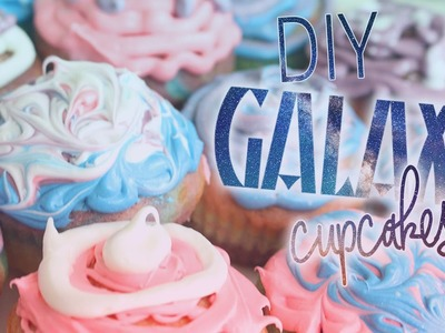 DIY Galaxy Cupcakes! Fun & Easy Galaxy Treats