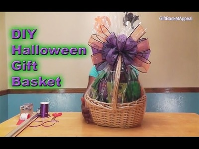 DIY Halloween Gift Basket Tutorial - GiftBasketAppeal