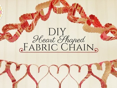DIY Heart Shaped Fabric Chain- 2 Techniques in 1 | Shabby Fabrics