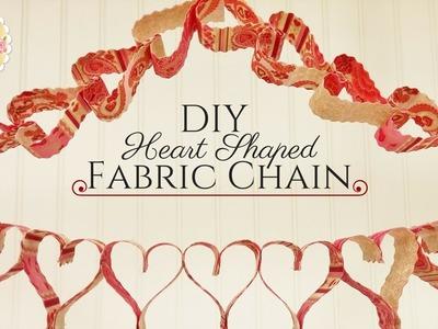 DIY Heart Shaped Fabric Chain- 2 Techniques in 1 | Shabby Fabrics