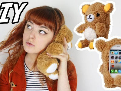 DIY Plush Bear Phone Case | Make Thrift Buy #23