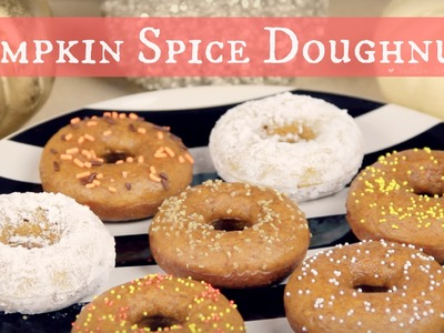 DIY Pumpkin Spice Doughnuts. Baking Donuts from Scratch How To