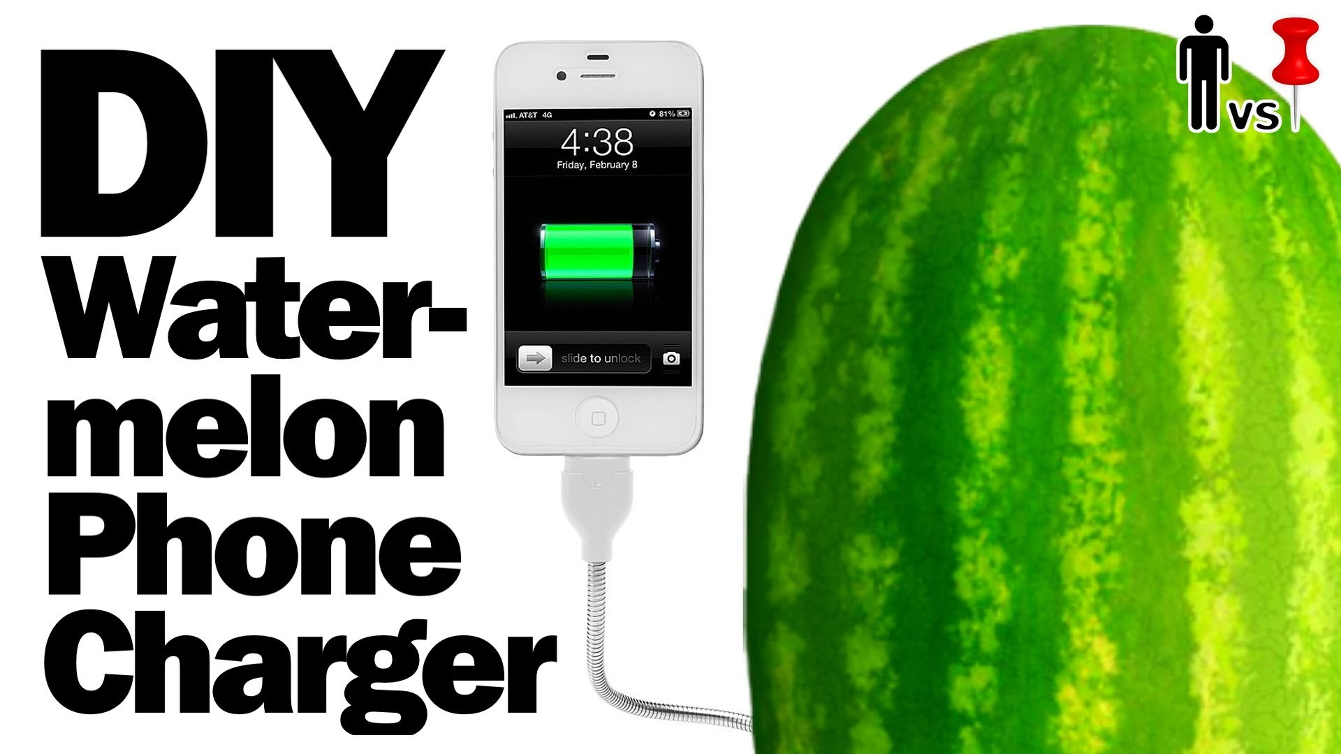 DIY Watermelon Phone Charger - Man vs. Pin - Pinterest Test #51