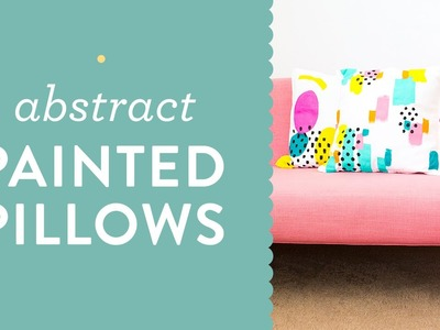 Easy DIY Abstract Painted Throw Pillow Tutorial