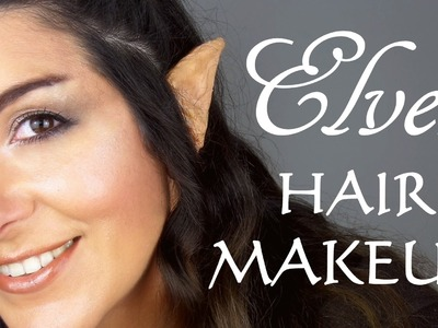 Elven Transformation makeup, hair & DIY ear prosthetics (hobbit.lotr inspired)