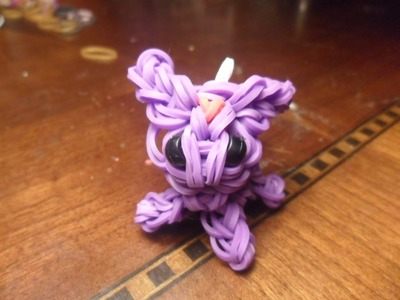 Espeon Rainbow Loom charm tutorial