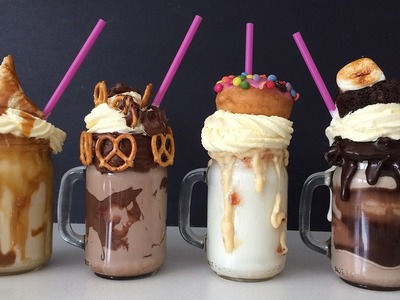 EXTREME MILKSHAKE RECIPES How To Cook That Ann Reardon FREAKSHAKES