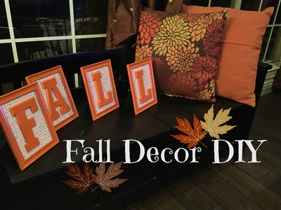 FALL Decor DIY - CHEAP & FAST