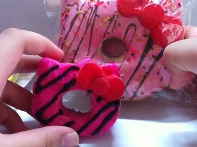 Handmade hello kitty donut squishy! :) #Tutorial :)