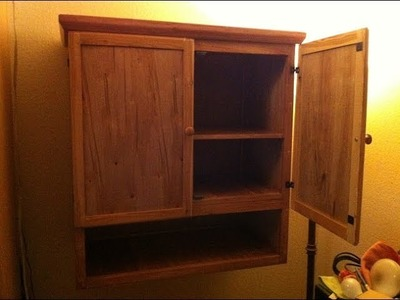 Home made cabinet using cheap wood, total cost $20