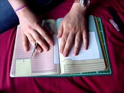 How to dissect a notebook for your Filofax!