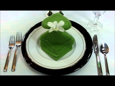 How to fold napkin into Waterfall Fantasy design