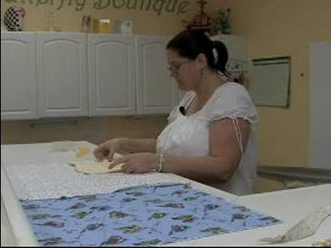How to Make a Baby Bib : Cutting Baby Bib Fabric Pieces