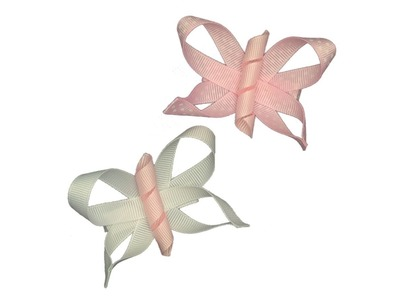 How To Make A Butterfly Ribbon Hair Bow Clip