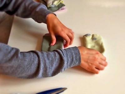 How to make a hair bun using socks