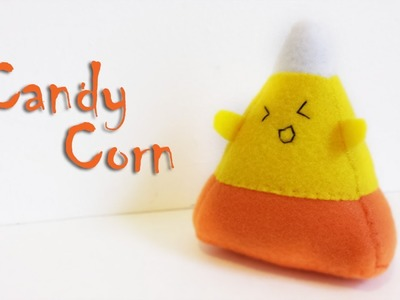 How to Make a Halloween Candy Corn Plushie Tutorial