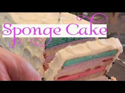How to make Sponge Cake**Rainbow Cake