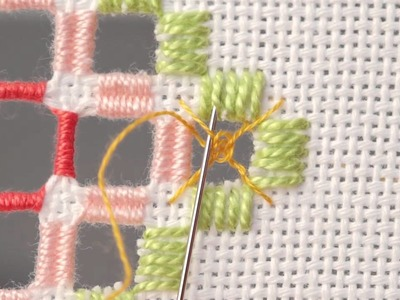 Learn How To Use a Spiders Web Filling Stitch