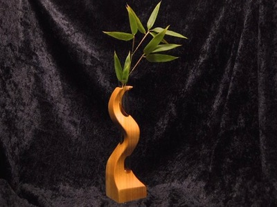 Make a small wood vase