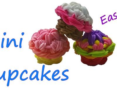 Mini Cupcake Tutorial by feelinspiffy (Rainbow Loom)