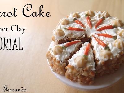 Miniature Polymer Clay Carrot Cake Tutorial | Maive Ferrando