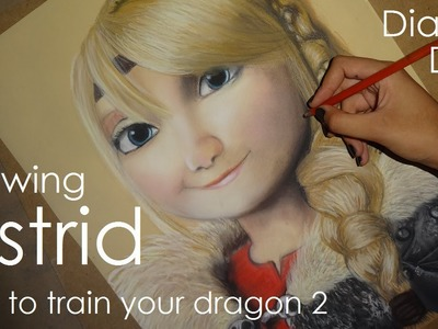 Speed Drawing: Astrid (How To Train Your Dragon) | Diana Díaz