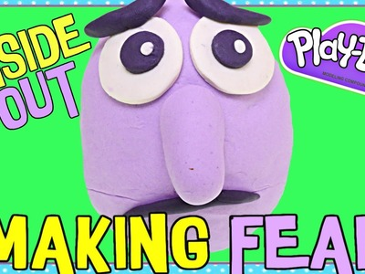 The Making of FEAR Play Doh Surprise Egg! DIY Disney Pixar Inside Out Movie Toy Characters