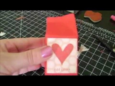 Valentines Day Candy Milk Carton Stampin Up Project