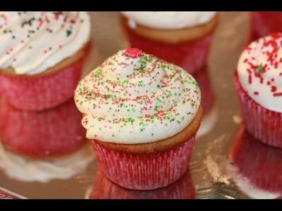 Vanilla Cream Cheese Cupcakes Decoration