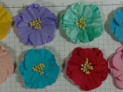 Baking cups paper make into flowers (Tutorial)