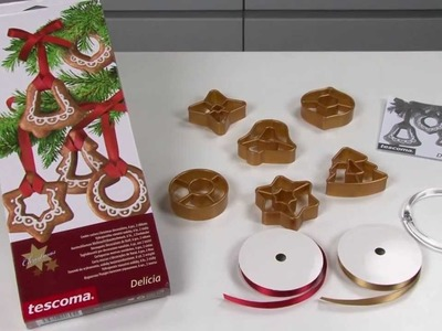Cookie cutters Christmas decorations with 2 ribbons TESCOMA DELÍCIA, 6 pcs