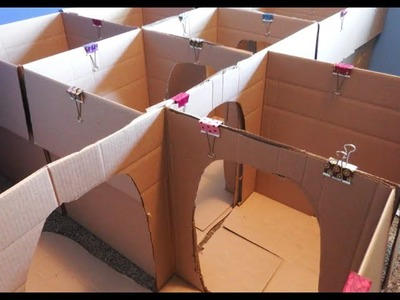 Crafts for Kids:  How to Make a Box Maze