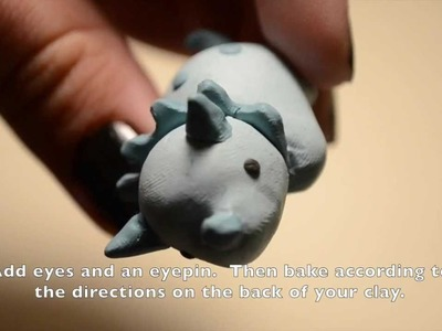 Cute Dinosaur Charm (Polymer Clay Tutorial)