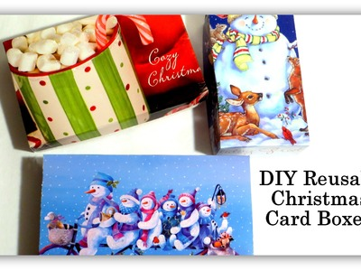 DIY Reusable Christmas Card Box Tutorial