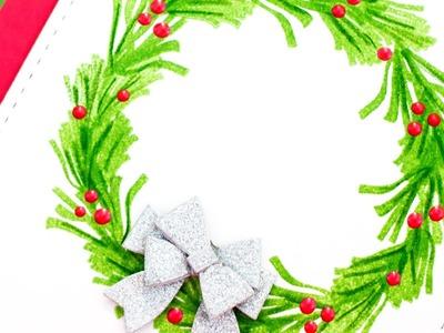 DIY Stamped Wreath
