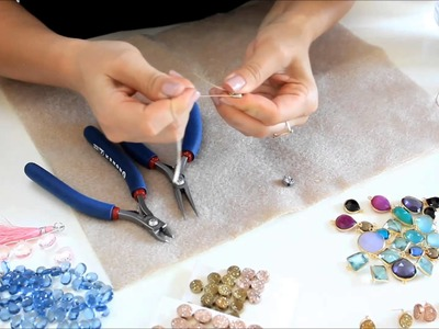Druzy post earrings FREE tutorial video