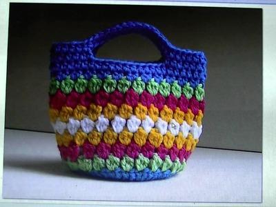 FREE WRITTEN PATTERN - Cluster Stitch Bag