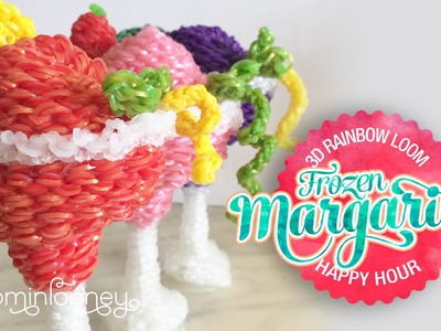 Frozen Loom Margaritas: 3D Rainbow Loom Cocktail Series