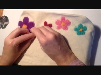 How to Decorate a Bag with Needle-Felting