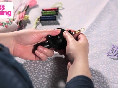 How to make fancy cords -- use the Kreinik Custom Corder