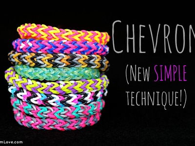 How to Make the Rainbow Loom Chevron (New SIMPLE technique!)