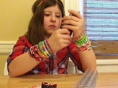 How to:Rainbow Loom - pencil holder